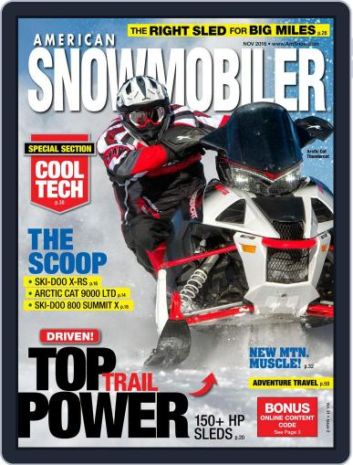 American Snowmobiler Magazine (Digital) November 1st, 2016 Issue Cover