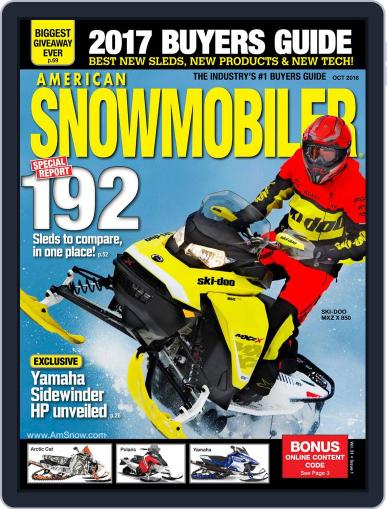 American Snowmobiler Magazine (Digital) August 12th, 2016 Issue Cover