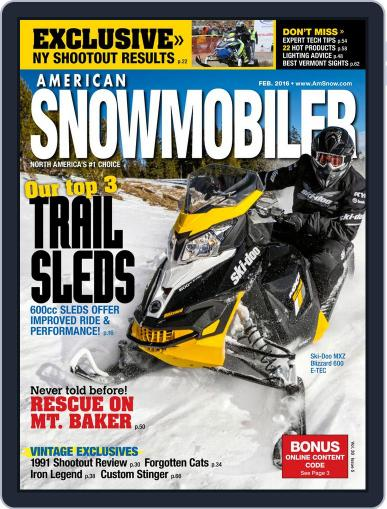 American Snowmobiler Magazine (Digital) February 1st, 2016 Issue Cover
