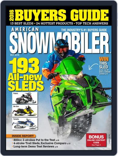 American Snowmobiler Magazine (Digital) October 1st, 2015 Issue Cover