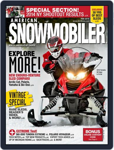 American Snowmobiler Magazine (Digital) January 14th, 2015 Issue Cover