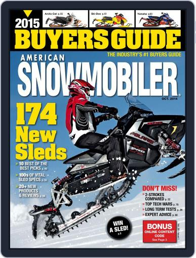 American Snowmobiler Magazine (Digital) August 21st, 2014 Issue Cover