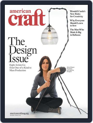 American Craft (Digital) November 19th, 2012 Issue Cover