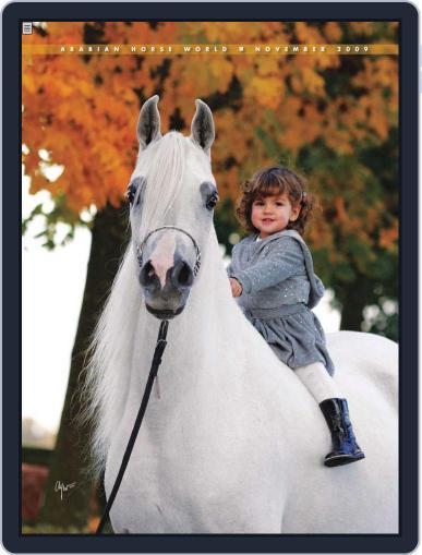 Arabian Horse World (Digital) November 17th, 2009 Issue Cover
