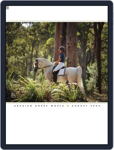 Arabian Horse World (Digital) August 7th, 2009 Issue Cover