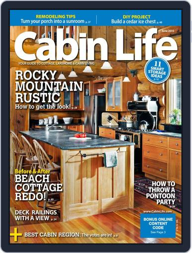 Cabin Life (Digital) June 1st, 2015 Issue Cover