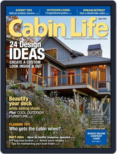 Cabin Life (Digital) April 1st, 2015 Issue Cover
