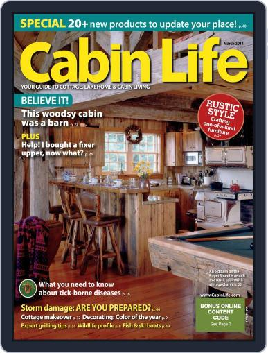 Cabin Life (Digital) January 17th, 2014 Issue Cover