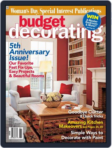 Budget Decorating Ideas January 8th, 2008 Digital Back Issue Cover