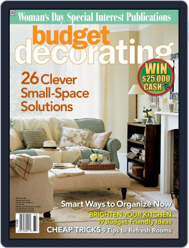 Budget Decorating Ideas October 16th, 2007 Digital Back Issue Cover