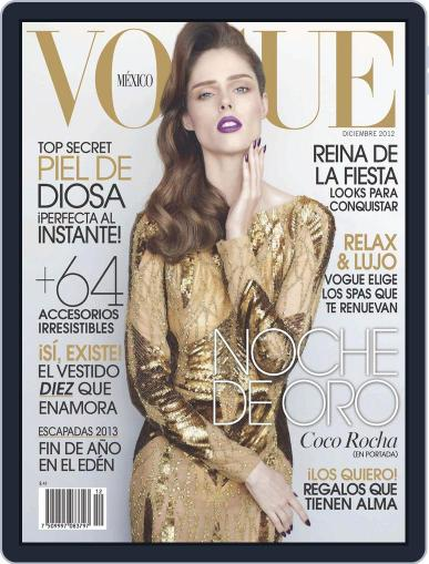 Vogue Mexico (Digital) December 1st, 2012 Issue Cover