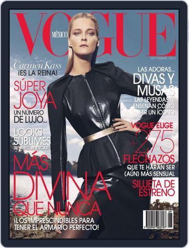 Vogue Mexico (Digital) September 3rd, 2012 Issue Cover