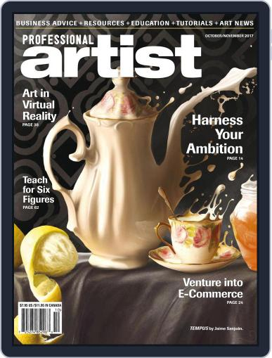 Professional Artist (Digital) October 1st, 2017 Issue Cover