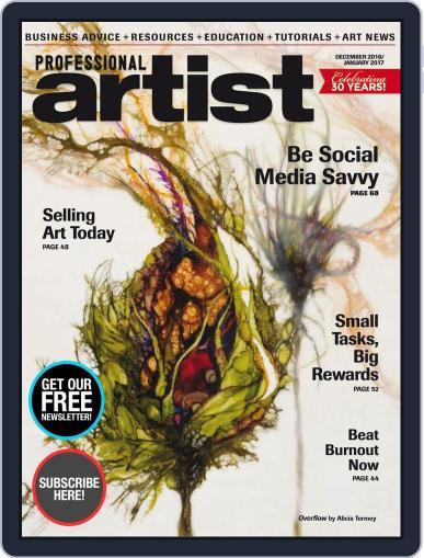 Professional Artist (Digital) December 1st, 2016 Issue Cover