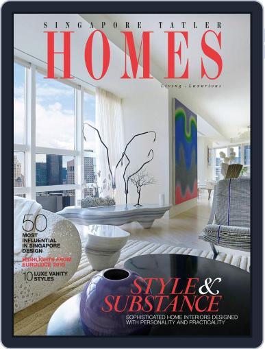 Tatler Homes Singapore August 1st, 2015 Digital Back Issue Cover