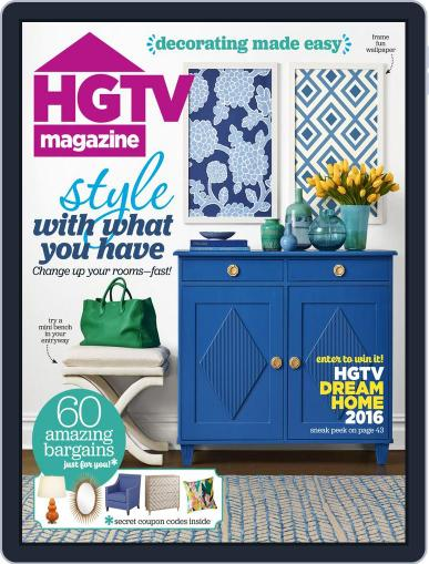 Hgtv (Digital) January 1st, 2016 Issue Cover