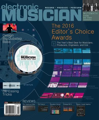 Electronic Musician (Digital) January 12th, 2015 Issue Cover