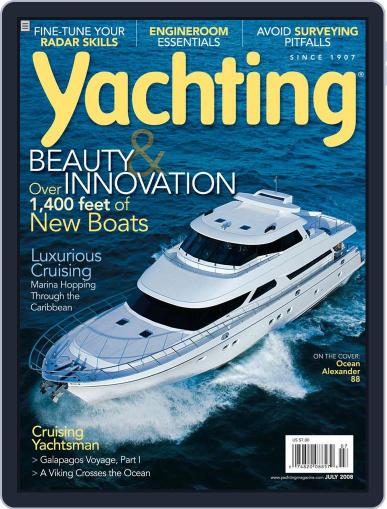 Yachting (Digital) June 19th, 2008 Issue Cover
