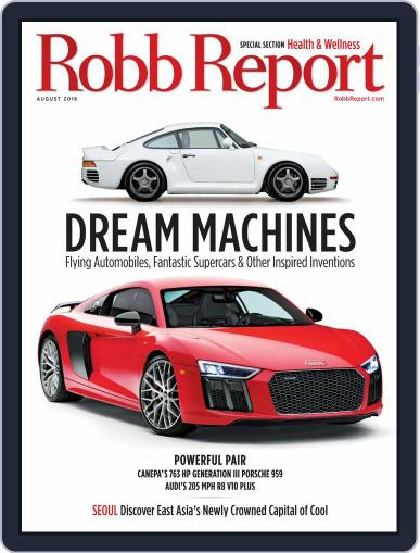 Robb Report (Digital) July 22nd, 2016 Issue Cover