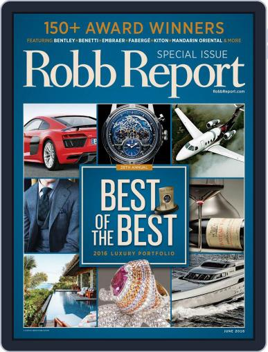 Robb Report (Digital) May 20th, 2016 Issue Cover