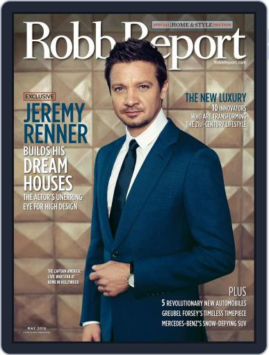Robb Report (Digital) April 15th, 2016 Issue Cover
