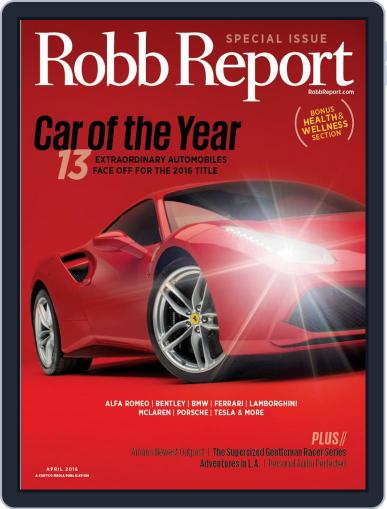 Robb Report (Digital) March 19th, 2016 Issue Cover