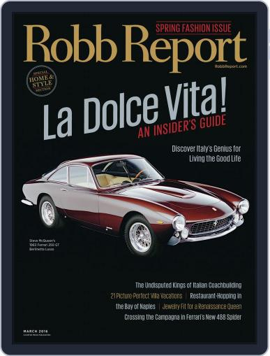 Robb Report (Digital) February 19th, 2016 Issue Cover