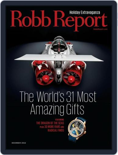 Robb Report (Digital) December 4th, 2015 Issue Cover
