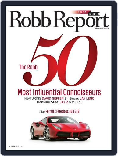 Robb Report (Digital) October 3rd, 2015 Issue Cover