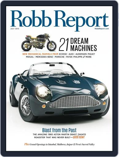 Robb Report (Digital) July 4th, 2015 Issue Cover