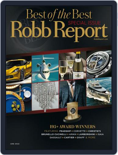 Robb Report (Digital) June 1st, 2015 Issue Cover