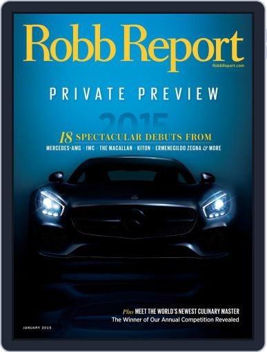 Robb Report (Digital) January 7th, 2015 Issue Cover