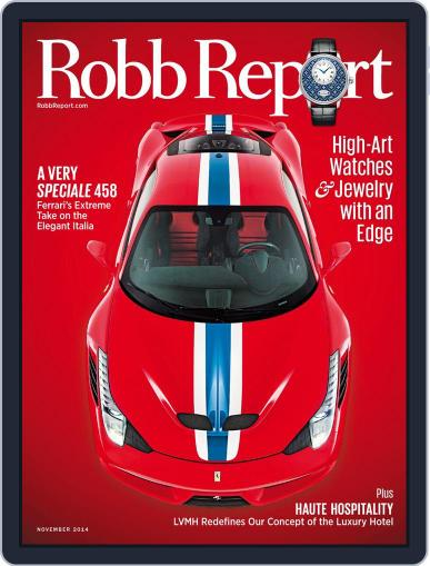 Robb Report (Digital) November 7th, 2014 Issue Cover