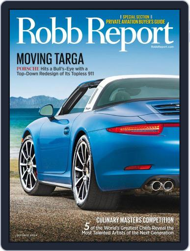 Robb Report (Digital) October 6th, 2014 Issue Cover