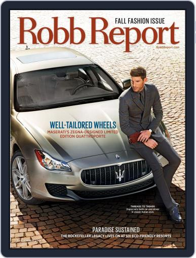 Robb Report (Digital) September 2nd, 2014 Issue Cover