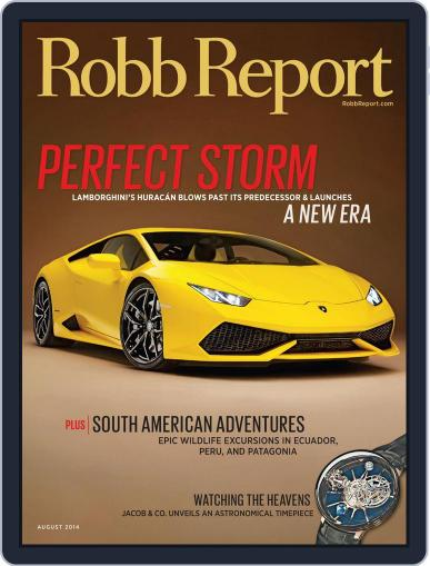 Robb Report (Digital) August 5th, 2014 Issue Cover