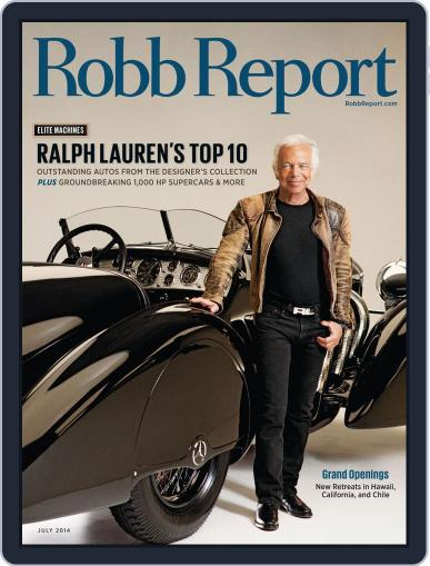 Robb Report (Digital) July 9th, 2014 Issue Cover