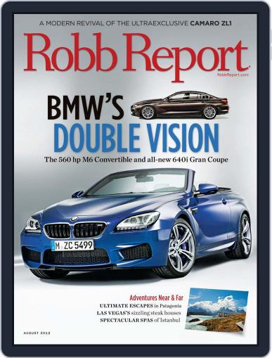 Robb Report (Digital) July 25th, 2012 Issue Cover