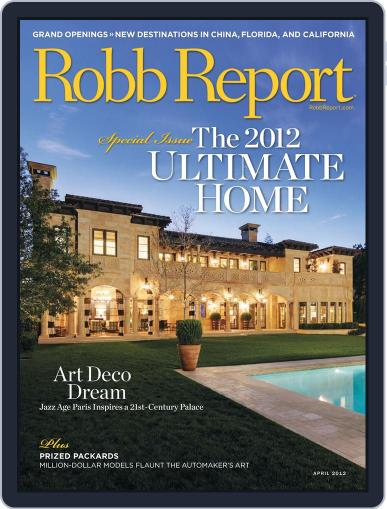 Robb Report (Digital) March 29th, 2012 Issue Cover