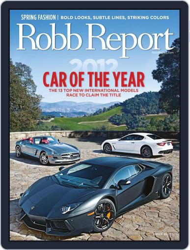 Robb Report (Digital) February 28th, 2012 Issue Cover