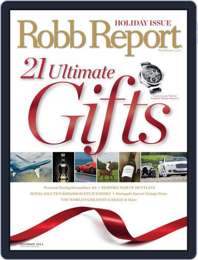 Robb Report (Digital) November 22nd, 2011 Issue Cover