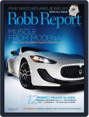 Robb Report (Digital) Subscription October 25th, 2011 Issue