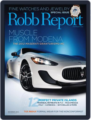 Robb Report (Digital) October 25th, 2011 Issue Cover