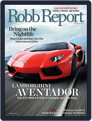 Robb Report (Digital) July 26th, 2011 Issue Cover