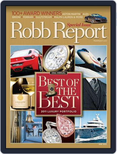Robb Report (Digital) May 24th, 2011 Issue Cover