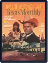Texas Monthly (Digital) Subscription October 1st, 2018 Issue