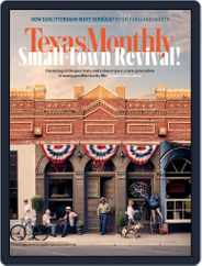 Texas Monthly (Digital) Subscription August 1st, 2018 Issue