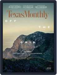 Texas Monthly (Digital) Subscription April 1st, 2018 Issue