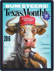 Texas Monthly (Digital) Subscription January 1st, 2017 Issue