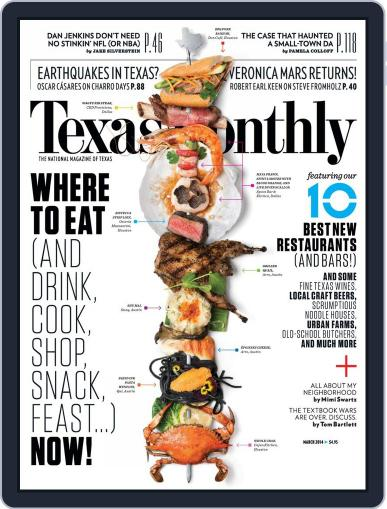 Texas Monthly (Digital) February 20th, 2014 Issue Cover